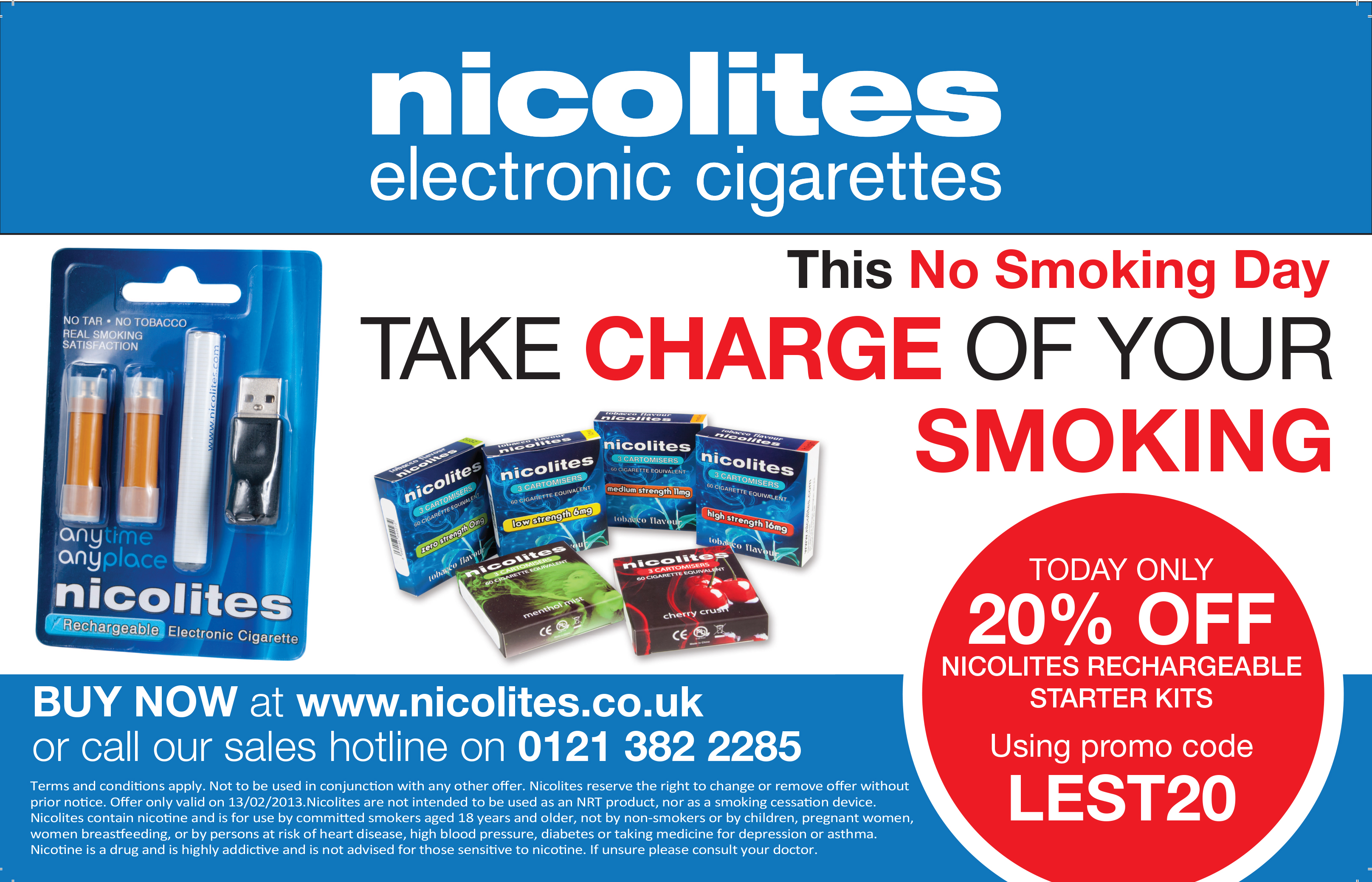 Nicolites Press advert for non smoking day